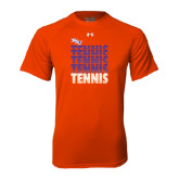 Under Armour Orange Tech Tee-Tennis Repeating