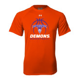 Under Armour Orange Tech Tee-Demons Basketball Stacked