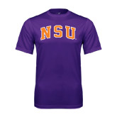 Performance Purple Tee-Arched NSU