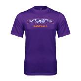 Performance Purple Tee-Baseball