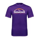 Performance Purple Tee-Demons Football Horizontal