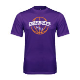 Performance Purple Tee-Demons Basketball Arched