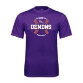 Performance Purple Tee-Demons Baseball Seams