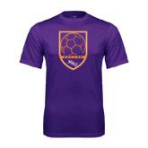 Performance Purple Tee-Soccer Shield