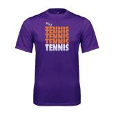 Performance Purple Tee-Tennis Repeating