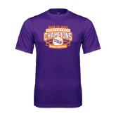 Performance Purple Tee-Womens Basketball Back To Back Champions