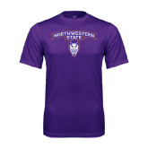 Performance Purple Tee-Arched Northwestern State w/Demon Head