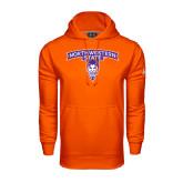Under Armour Orange Performance Sweats Team Hoodie-Arched Northwestern State w/Demon Head