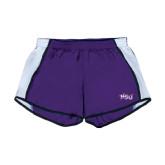 Ladies Purple/White Team Short-NSU