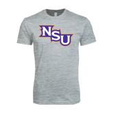 Next Level SoftStyle Heather Grey T Shirt-NSU