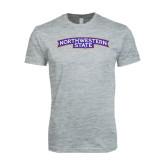 Next Level SoftStyle Heather Grey T Shirt-Arched Northwestern State