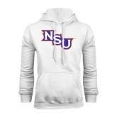 White Fleece Hoodie-NSU