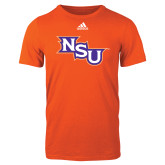 Adidas Orange Logo T Shirt-NSU