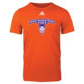 Adidas Orange Logo T Shirt-Arched Northwestern State w/Demon Head