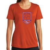 Ladies Syntrel Performance Orange Tee-Soccer Shield
