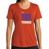 Ladies Syntrel Performance Orange Tee-Tennis Repeating