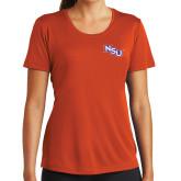 Ladies Syntrel Performance Orange Tee-NSU