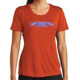 Ladies Syntrel Performance Orange Tee-Arched Northwestern State