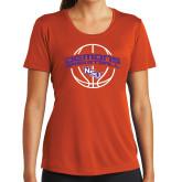 Ladies Syntrel Performance Orange Tee-Demons Basketball Arched