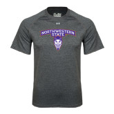 Under Armour Carbon Heather Tech Tee-Arched Northwestern State w/Demon Head