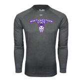 Under Armour Carbon Heather Long Sleeve Tech Tee-Arched Northwestern State w/Demon Head