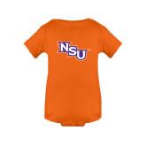 Orange Infant Onesie-NSU