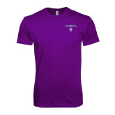 Next Level SoftStyle Purple T Shirt-Arched Northwestern State w/Demon Head