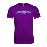 Next Level SoftStyle Purple T Shirt-Arched Northwestern State