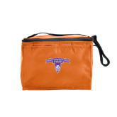 Six Pack Orange Cooler-Arched Northwestern State w/Demon Head