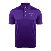 Purple Dry Mesh Polo-Arched Northwestern State w/Demon Head