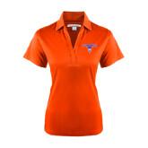 Ladies Orange Performance Fine Jacquard Polo-Arched Northwestern State w/Demon Head