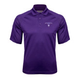 Purple Textured Saddle Shoulder Polo-Arched Northwestern State w/Demon Head