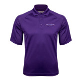 Purple Textured Saddle Shoulder Polo-Arched Northwestern State
