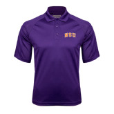 Purple Textured Saddle Shoulder Polo-Arched NSU