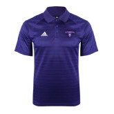 Adidas Climalite Purple Jaquard Select Polo-Arched Northwestern State w/Demon Head