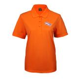 Ladies Easycare Orange Pique Polo-NSU