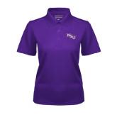 Ladies Purple Dry Mesh Polo-NSU