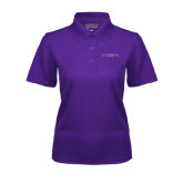 Ladies Purple Dry Mesh Polo-Arched Northwestern State