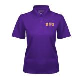 Ladies Purple Dry Mesh Polo-Arched NSU