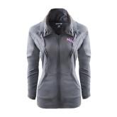 Ladies Sport Wick Stretch Full Zip Charcoal Jacket-NSU