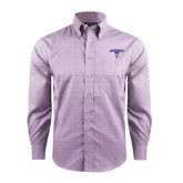 Red House Purple Plaid Long Sleeve Shirt-Arched Northwestern State w/Demon Head