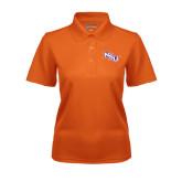 Ladies Orange Dry Mesh Polo-NSU