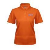 Ladies Orange Dry Mesh Polo-Arched NSU