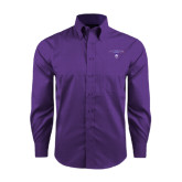 Red House Purple Long Sleeve Shirt-Arched Northwestern State w/Demon Head