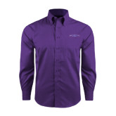 Red House Purple Long Sleeve Shirt-Arched Northwestern State