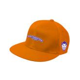 Orange Flat Bill Snapback Hat-Arched Northwestern State