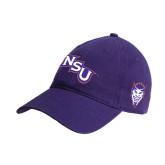 Purple Twill Unstructured Low Profile Hat-NSU