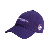 Purple Twill Unstructured Low Profile Hat-Arched Northwestern State