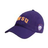 Purple Twill Unstructured Low Profile Hat-Arched NSU