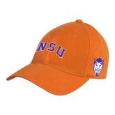 Orange Twill Unstructured Low Profile Hat-Arched NSU